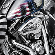 Stars And Stripes Harley  Poster by Tim Gainey