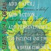 Starts With A Dream Poster by Debbie DeWitt