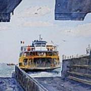 Staten Island Ferry Docking Poster by Anthony Butera