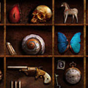 Steampunk - A Box Of Curiosities Poster by Mike Savad