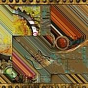 Steampunk Abstract Poster by Liane Wright