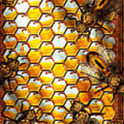Steampunk - Apiary - The Hive Poster by Mike Savad