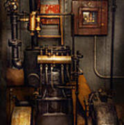Steampunk - Back In The Engine Room Poster by Mike Savad