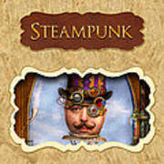 Steampunk Button Poster by Mike Savad
