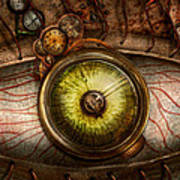 Steampunk - Creepy - Eye On Technology  Poster by Mike Savad