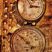 Steampunk - Gauges Poster by Mike Savad