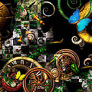 Steampunk - Surreal - Mind Games Poster by Mike Savad
