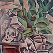 Still Life Showing Skull Poster by Kubista Bohumil