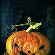Stingy Jack - Scary Halloween Pumpkin Poster by Edward Fielding