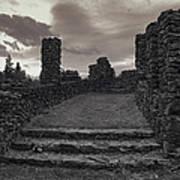 Stone Ruins At Old Liberty Park - Spokane Washington Poster by Daniel Hagerman