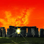 Stonehenge Solstice Poster by Daniel Hagerman