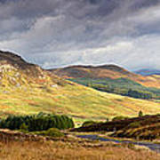 Storm Clouds Over The Glen Poster by Jane Rix