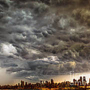 Storm Coulds Over Nyc Poster by Jerry Fornarotto