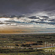 Storm Over Emmett Valley Poster by Robert Bales
