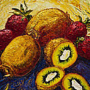 Strawberries And Kiwis Poster by Paris Wyatt Llanso