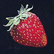 Strawberry Poster by Aaron Spong