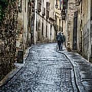 Streets Of Segovia Poster by Joan Carroll
