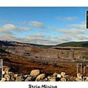 Strip Mining - Environment - Panorama - Labrador Poster by Barbara Griffin