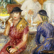 Study For The Soda Fountain Poster by William James Glackens