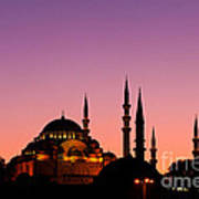 Suleymaniye Sundown 02 Poster by Rick Piper Photography