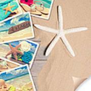 Summer Beach Postcards Poster by Amanda Elwell
