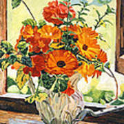 Summer House Still Life Poster by David Lloyd Glover