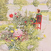 Summer In Sundborn Poster by Carl Larsson