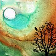 Summer Moon - Landscape Art By Sharon Cummings Poster by Sharon Cummings