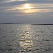 Summer Sunset Over Freeport Poster by John Telfer
