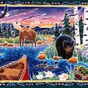 Sunrise At Bear Lake Poster by Harriet Peck Taylor