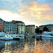 Sunrise In Stockholm Poster by Jenny Hudson