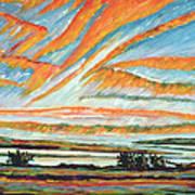 Sunrise Les Eboulements Quebec Poster by Patricia Eyre