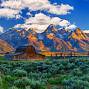 Sunrise On The Tetons Limited Edition Poster by Greg Norrell