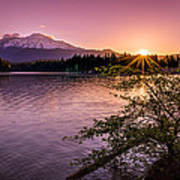 Sunrise Over Lake Siskiyou And Mt Shasta Poster by Scott McGuire