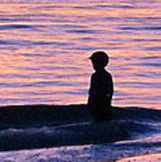 Sunset Art - Contemplation Poster by Sharon Cummings