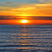 Sunset In San Clemente Poster by Mariola Bitner