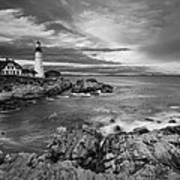 Sunset Lighthouse Poster by Jon Glaser