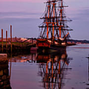 Sunset On The Friendship Of Salem Poster by Jeff Folger