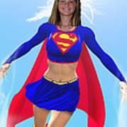 Super Nina Poster by Allan  Hughes