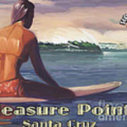 Surfer Girl Pleasure Point Poster by Tim Gilliland