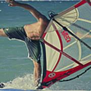 Surfing Kanaha Maui Hawaii Poster by Sharon Mau