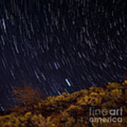 Surprise Trailhead Startrails Poster by Benjamin Reed