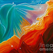 Swan Nebula Poster by Barbara McMahon