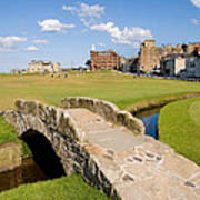 Swilcan Bridge On The 18th Hole At St Andrews Old Golf Course Scotland Poster by Unknown