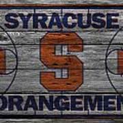 Syracuse Orangemen Poster by Joe Hamilton