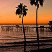 T Street Pier San Clemente California From The Book My Ocean Poster by Artist and Photographer Laura Wrede