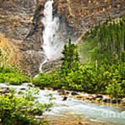 Takakkaw Falls Waterfall In Yoho National Park Canada Poster by Elena Elisseeva