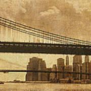 Tale Of Two Bridges Poster by Joann Vitali