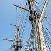 Tall Ship Rigging Poster by Dale Kincaid