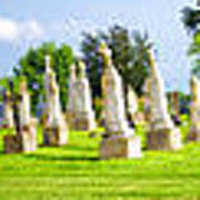 Tall Tombstones Panorama Poster by Thomas Woolworth